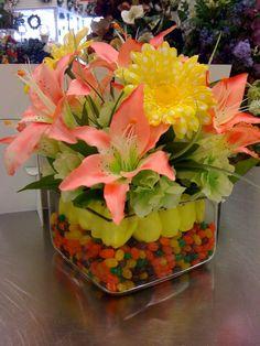 Easter flower arrangement. by Pam Lester, Garland, TX