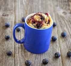 Blueberry Muffin With Streusel Topping Mug Cake | Kirbie's Cravings | A San Diego food & travel blog