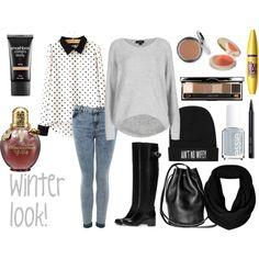 Winter look #1 by rinanuramalina on Polyvore