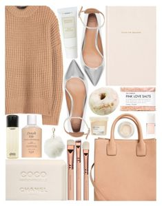 """""""Peach Colors"""" by m-olla ❤ liked on Polyvore featuring The Row, Fresh, Chanel, MAC Cosmetics, Kate Spade, Fig+Yarrow, MANGO, Christian Dior, Charlotte Russe and Zara"""