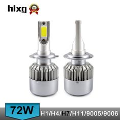Hlxg 2pcs 80w 12000lm H7 Led Canbus Bulbs Car Headlight Kit Error Free 6000k Pure White Automobiles Front Lights Making Things Convenient For The People Car Headlight Bulbs(led)