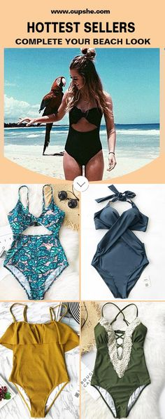 Walk or sit down nearby the sea, they're awesome. You must need delicate bathing suits like these. Enjoy a fun getaway with cupshe. Be stunning and hit the whole beach. FREE shipping! Check them out.