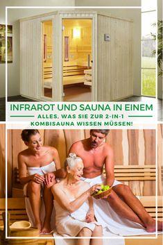 Sauna Infrarot Kombi: Sie können sich nicht zwischen einer Finnischen Sauna und einer Infrarot-Sauna entscheiden? Das müssen Sie auch gar nicht! Eine sogenannte Kombisauna vereint die Vorteile beider Saunatypen, sodass Sie mal so und mal so schwitzen können. In unserem Beitrag erklären wir, was eine Kombisauna ist, wo ihre Vorteile liegen und informieren Sie über alles, was Sie zur Kombisauna wissen müssen. Jetzt mehr erfahren!  #Sauna #Infrarotkabine #Kombisauna #Saunazuhause Infrarot Sauna, Spa, Strapless Dress Formal, Formal Dresses, Sauna Ideas, Benefits Of, Pool Chairs, Nice Asses, Dresses For Formal
