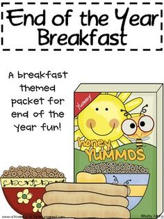 End of the year packet with a breakfast theme!