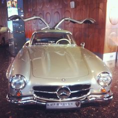 Mercedes-Benz 300SL with gull-wing doors. Moscow, Autoville museum