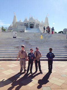 A group of Scouts from Pack 650 learned about the Hindu faith in a recent visit to the Shri Swaminarayan Mandir while working on their Duty to God award.