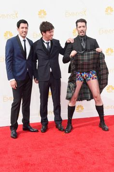 Pin for Later: This Week's Can't-Miss Celebrity Photos  J.D. Scott apparently needed a breath of fresh air on the red carpet of the 66th annual Primetime Emmy Awards.