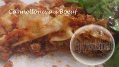 Cannellonis maison au Boeuf et sauce Tomates ( au Thermomix )