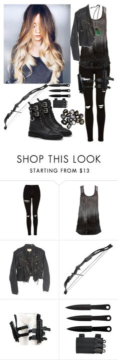 """""""She's just a kid, she shouldn't have to fight"""" by demiwitch-of-mischief ❤ liked on Polyvore featuring Topshop, Charlotte Russe, H&M, Millà and Giuseppe Zanotti"""