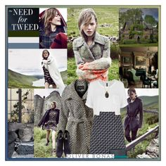 """""""The need for tweed."""" by leannesugarplum ❤ liked on Polyvore featuring VILA, MANGO, Poem, Acne Studios, Karuna, Luella and country"""