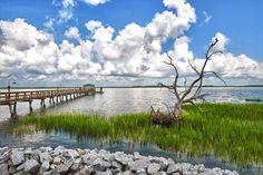 Hilton Head Daufuskie Island South Carolina Driftwood Pier Clouds Home Office Coastal Print Landscape Photography Wall Decor Fine Art Large