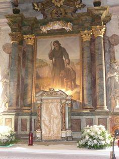Sanzeno - Eremo di S. Romedio - pala della cappella dedicata al Santo