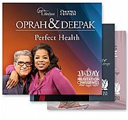 Deepak Chopra meditation CDs - perfect health, creating abundance and free to love