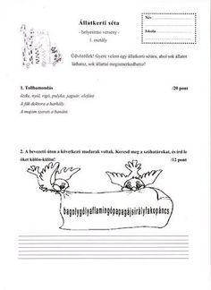HELYESÍRÁSI VERSENY 1. OSZTÁLY - tanitoikincseim.lapunk.hu Grammar, Literature, Literatura