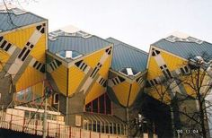 Funky apartments in the Rotterdam, at Blaak Station.