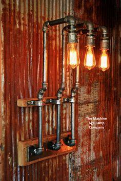 Industrial Barn Wood Wall Sconce Matt