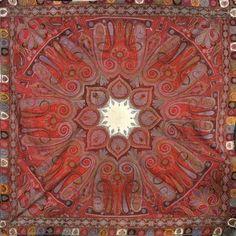 Châle carré, Inde, milieu XIXème siècle