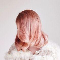 dusty pink bob
