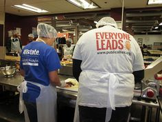 Allstate and Allies in Chicago prepare yummy treats for seniors