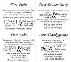 13 customized wedding wine poem tags pdf bridal shower decorationsbridal shower giftsbridal