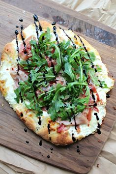 Prosciutto Arugula Burrata Pizza - The Secret Ingredient Is