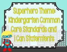 These Common Core Posters are PERFECT to display daily standards and/or I Can posters in your SUPERHERO classroom! Each poster is x 11 in land. Superhero Kindergarten, Superhero Classroom, Kindergarten Themes, Future Classroom, Classroom Themes, Objectives Board, Common Core Posters, I Can Statements, School Themes