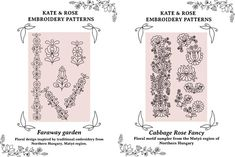 New embroidery patterns now available to buy – and a freebie too! Embroidery Map, Embroidery Online, Chain Stitch Embroidery, Hungarian Embroidery, Learn Embroidery, Embroidery For Beginners, Embroidery Techniques, Embroidery Patterns, Stitch Head