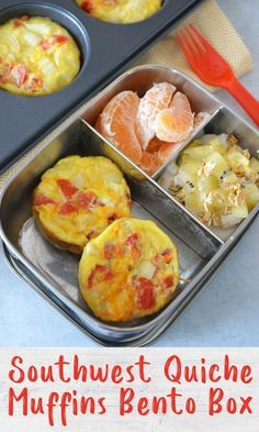 These Southwest quiche muffins are a great meal prep recipe packed full of protein and veggies. Make a batch for easy breakfasts all week, or these fun breakfast theme bento boxes! Grab And Go Breakfast, Breakfast Time, Best Breakfast, Non Sandwich Lunches, Quiche Muffins, Healthy School Lunches, Lunchbox Ideas, Cereal Recipes, Bento Box