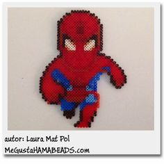 Spiderman Hama beads by Laura Mat Pol