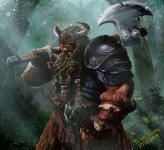 Dwarf Warrior by Silleras941.deviantart.com on @DeviantArt