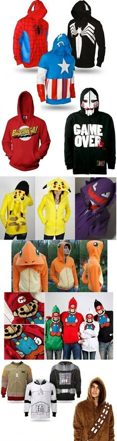 I want these hoodies! Apart from the saw one . . . not that one!
