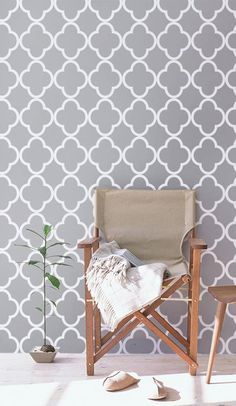 Liven up your space with minimalist metallic accents and the perfect patterned wallpaper. cc @etsy #etsyhome #ad
