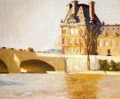 Edward Hopper. Le Pont Royal. 1909. Óleo sobre lienzo. 59.7 x 72.4 cm. Whitney Museum of American Art. New York.