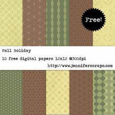 Fall Holiday Paper Pack