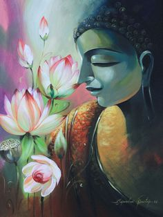 Buy Lord Buddha painting online - original museum quality artwork by Bijendra Pratap , available at Gallerist. Check price, painting and details online. Buddha Artwork, Buddha Painting, Pichwai Paintings, Indian Art Paintings, Buddha Drawing, Buddhist Art, Buddha Buddhism, Krishna Art, Online Painting
