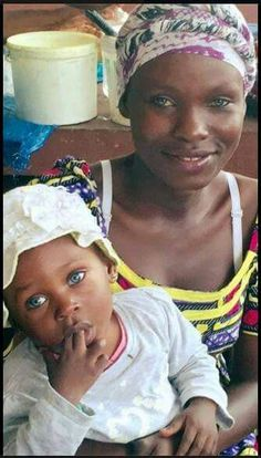 Mother and child, Brazzaville, Republic of the Congo. Black women carry every possible genetic variation in their genes.