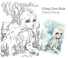 Pale Messengers  Digital Stamp Instant Download / by gjzcck