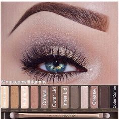 Urban Decay Naked 2 eyeshadow tutorial
