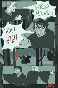 I think that my fav Harry/Draco fanart EVER. I mean, I like Drarry, but this one is also ok as friends/allies