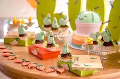 Dessert tablescape from a Pastel Fiesta Cactus Birthday Party on Kara's Party Ideas | KarasPartyIdeas.com (14)
