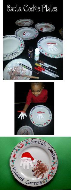 Christmas plates for Santa's cookies :) Toddler Time Tips https://www.facebook.com/toddlertimetips