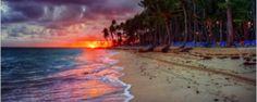 Une plage et un coucher de soleil à Porto Rico #voyage #bureaudechange