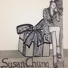 Illustration 'Curious Fashionista' by Susan Chung https://www.facebook.com/pages/Susan-Chung-Illustrations/331104350407447?ref=hl Instagram: @susanchungfashion