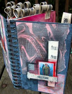 altered sketchbook by Pam Palmarini