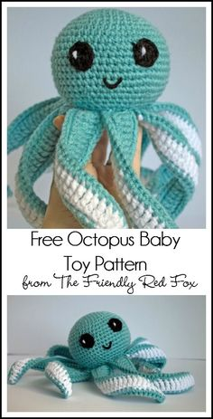 the friendly red fox amigurumi octopus baby toy free pattern