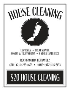 Cleaning Business Clip Art | Free Printable House Cleaning Flyers ...