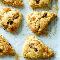 Apricot, Cranberry, and Almond Whipped Cream Scones, made with natural, unrefined sugar!