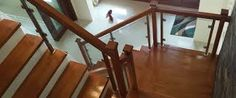 Image result for indoor handrails for stairs contemporary with wood and glass