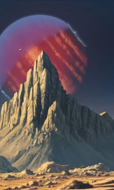 Mountains, planet, fantasy, landscape, art, 480x800 wallpaper