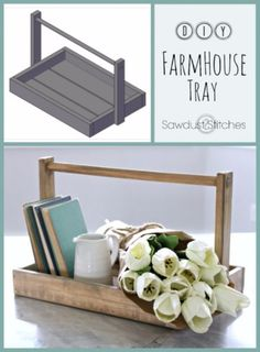 Farmhouse Decor to Make And Sell - DIY Farmhouse Tray - Easy DIY Home Decor and Rustic Craft Ideas - Step by Step Country Crafts, Farmhouse Decor To Make and Sell on Etsy and at Craft Fairs - Tutorials and Instructions for Creative Ways to Make Money - Best Vintage Farmhouse DIY For Living Room, Bedroom, Walls and Gifts http://diyjoy.com/farmhouse-decor-to-make-and-sell